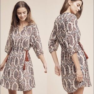 Anthropologie Zharah peasant dress, size small